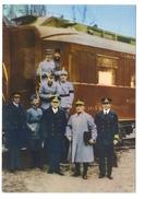 60 Compiègne . Descente Du Wagon Après Signature Armistice.Weygang, Wemyss, Foch, Mariott... - Histoire