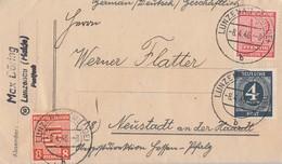 Westsachsen Brief Mif Minr.132, Pr. Sachsen Minr.77, Gemeina. Minr.914 Lunzenau 8.4.46 - Sowjetische Zone (SBZ)