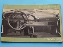 CITROËN GS Notice Mode D'Emploi / Instructieboekje / Handleiding 1976 ( NEDERLANDS - Zie Foto´s ) ! - Voitures
