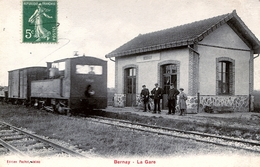 77. SEINE ET MARNE - BERNAY. La Gare. TB Plan. - Other Municipalities