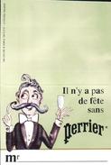 Porte-nom De Table PERRIER Mr Et Mme - Perrier
