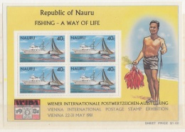 F-EX3313 NAURU 1981 OLD SHIP BARCOS MNH STAMPS LOT. - Nauru