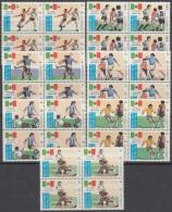 F-EX3357 LAO LAOS 1985 MNH WORLD SOCCER CUP MEXICO. COPA MUNDIAL DE FUTBOL. BLOCK 4. - Laos