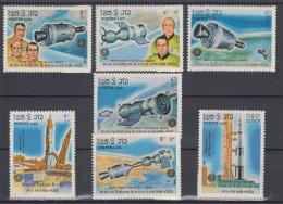 F-EX3374 LAO LAOS 1985 MNH COSMOS ASTRONAUTICA ASTRONAUTICS. - Laos