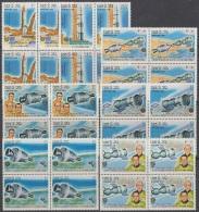 F-EX3375 LAO LAOS 1985 MNH COSMOS ASTRONAUTICA ASTRONAUTICS. BLOCK 4. - Laos