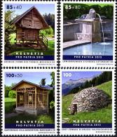SWITZERLAND 2012, ARCHITECTURE, SWISS SMALL BUILDINGS, COMPLETE, MNH SET, GOOD QUALITY, *** - Schweiz