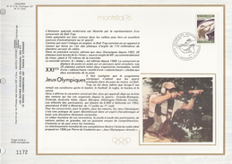 Ltd Edition CEF ANDORRA Stamps SILK FDC (card) OLYMPIC SHOOTING Sport Olympics Games  Cover - Verano 1976: Montréal