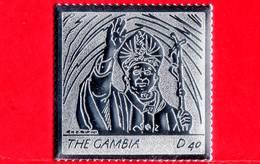 Nuovo - MNH - GAMBIA -  2004 - Visita Del Papa Giovanni Paolo II - In Argento - 40 - Gambia (1965-...)