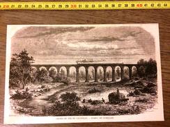 GRAVURE 1860 CHEMIN DE FER DE CHANTILLY - Vieux Papiers