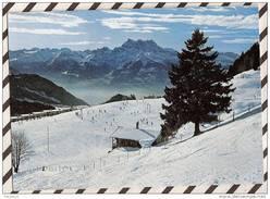 U327 LEYSIN PLAN PRAZ DENTS DU MIDI 1969  2 SCANS - VD Vaud