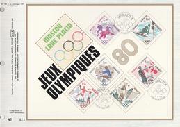 Ltd Edition CEF MONACO Stamps SILK FDC (card) OLYMPICS ICE HOCKEY  SKIING SHOOTING GYNMASTICS Olympic Games Sport Cover