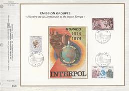 Ltd Edition CEF MONACO Stamps SILK FDC (card) POLICE INTERPOL Cover - Police - Gendarmerie