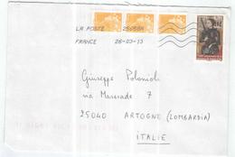 Francia Busta Viaggiata Francia Italia Anno 2013 Con Bolli  2012+PO. See Scan - 1961-....
