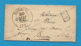 Seine Et Oise - Corbeil. 3 Documents Avec CàD Différents: CàD Type 12 - 13 Et 15 - Marcophilie (Lettres)