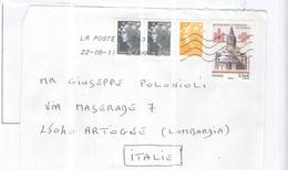Francia Busta Viaggiata Francia Italia Anno 2011 Con Bolli 3010 Marianne Prioritaria. See Scan - 1961-....