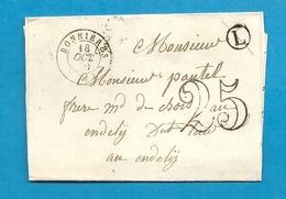 Seine Et Oise - Bonnieres Pour Les Andelys. CàD Type 15 + Taxe Tampon 25 - Marcophilie (Lettres)