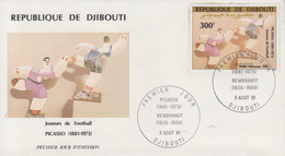 Enveloppe  FDC  1er  Jour    REPUBLIQUE   De   DJIBOUTI    Oeuvre  De   PICASSO    1981 - Djibouti (1977-...)