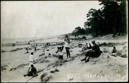SZ 002 JURMALA (ex-Sovietunion-ex-Soviet Union) Lettland-Latvija Sandstrand Und Menschen-sandy Beach And People Ca 1940 - Rusia