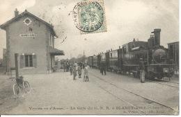 08 - BLANZY-AIRE -  La Gare Du C.B.R. / Train - France