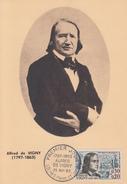 Carte Maximum  1er Jour    Alfred  DE  VIGNY     LOCHES     1963 - Maximumkaarten