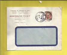 Enveloppe Ou Lettre Publicitaire Commerciale De SAINTE-SAVINE AUBE Ets MONTGOLFIER FILS & Cie Le 02 07 42 - Marcophilie (Lettres)