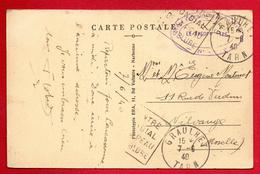 Franchise Militaire. Cachet De L'Ecole Elémentaire De Pilotage N. 40 - Graulhet Sur Cp Graulhet. Juin 1940 - Marcophilie (Lettres)