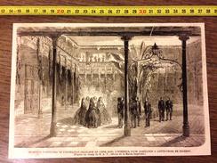 GRAVURE 1860 RECEPTION D OFFICIERS DE L EXPEDITION FRANCAISE EN CHINE A SAINTE CROIX DE TENERIFE - Vieux Papiers