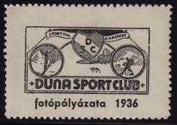 SKI JUMP / Mountaineering - 1936 Hungary / Danube Duna Sport Club - MH Label / Vignette / Cinderella - PHOTO Contest - Ski