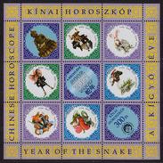 Hungary 2001 - Chinese Horoscope China - Full Sheet - LABEL / CINDERELLA / VIGNETTE - MNH - Astrology