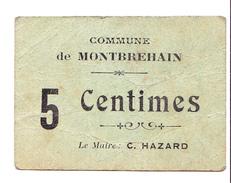 Bon 5c Commune De MONTBREHAIN 14-18 - Bons & Nécessité