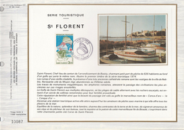 Ltd Edition CEF FRANCE Stamps SILK FDC (card) TOURISM FISH SHELL  ST FLORENT Cover  BOAT - Coneshells