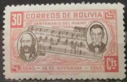 BOLIVIA 1946 The 100th Anniversary Of The National Anthem. USADO - USED. - Bolivia