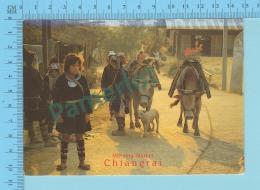 Chiang Rai ,Thailand - Morning Market Chiangrai , Used Air Mail In 2000 , 2 Stamp - 2 Scans - Thaïlande