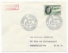 FRANCE => Env Scotem - 30F Etienne OEHMICHEN - 1er Jour Cachet Secondaire Valentigney 13 Avril 1957 - FDC