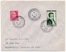 FRANCE => Env Scotem - Exposition Philatélique SARREBOURG 1953 - Marcophilie (Lettres)