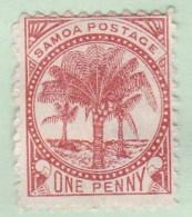 Western Samoa 1899 SG 89 P11 Mint Hinged - Samoa
