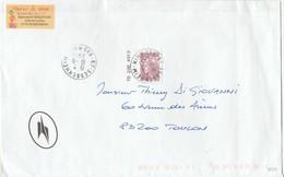 FRANCE 2011 MARIANNE DE BEAUJARD YT 4569  SEUL SUR LETTRE - Marcofilia (sobres)