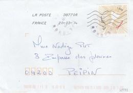 FRANCE 2014 COEUR BACCARAT YT 4833  SEUL SUR LETTRE - 1961-....
