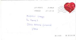 Francia Busta Viaggiata Francia Italia 2013 Con Bolli 2013+PO. See Scan - Postmark Collection (Covers)