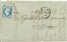 LETTER 1856  A DAX SCANER - Marcofilia (sobres)