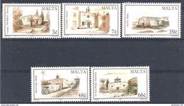 2004 MALTE 1311-15** Eglises - Malta