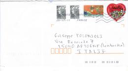 Francia Busta Viaggiata Francia Italia 2011 Con Bolli 2011+Marianne Priority. See Scan - 1961-....