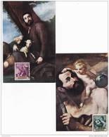 España Nº 1498 Al 1507 En Tarjetas Maximas