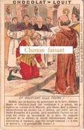 Chromo CHOCOLAT LOUIT - GALILEE : Et Pourtant Elle Tourne...  - Scans  Recto-verso - Louit