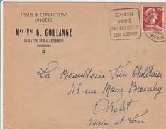 Saint-Savin Vienne 1959 - Daguin Fresques Et Abbaye - Mechanical Postmarks (Advertisement)