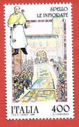 ITALIA REPUBBLICA MNH - 1989 - Folclore - Infiorate Di Spello - £ 400 - S. 1866 - 6. 1946-.. Repubblica