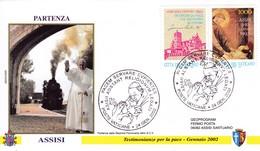 Vatikan, 2002. Testimonianze Per La Pace - Gennaio Mi: 1079 Mit Zierfeld Giotto  - Fresko Frieden In Europa - Vatican