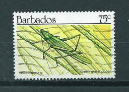 1990 Barbados 75 Cent Insect Used/gebruikt/oblitere - Barbados (1966-...)