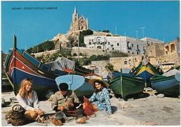 Gozo's Idyllic Harbour  - (Typical Boats) - (Malta) - Malta