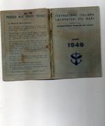 1949 TESSERA FEDERAZIONE ITALIANA LAVORATORI DEL MARE - TORRE DEL GRECO - Documenti Storici